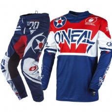 Comprar kit-calca--camisa-oneal-element-warhawk-blue-red
