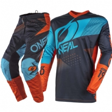 Comprar kit-calca--camisa-oneal-element-factor-gray-orange-blue